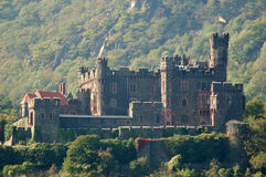 Historic Castle in Germany. Historical Castle Ruine at Rhine River in Germany Stock Photo