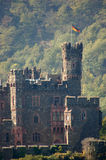 Historic Castle in Germany. Historical Castle Ruine at Rhine River in Germany stock photography
