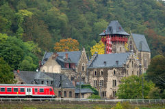 Historic Castle in Germany. Historic Castle with a Train in front of it, Germany Stock Image