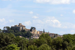 Historic castle on the hill, Chateau of Ansouis,  Provence, sout Stock Image