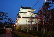 Historic castle in japan Royalty Free Stock Image