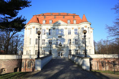 The historic Castle Lesnica, Poland Stock Image