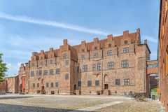 Malmohus Castle Courtyard. The historic castle of malmohus situated in the swedish city of Malmo Stock Photos