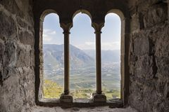 Historic castle in Northern Italy near the town of Bozen. Boymont castle in South Tyrol near Bozen, Italy royalty free stock photography