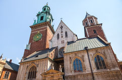 Historic castle in old Krakow Royalty Free Stock Image