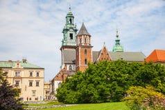 Historic castle in old Krakow Royalty Free Stock Photo