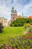 Historic castle in old Krakow Stock Photo