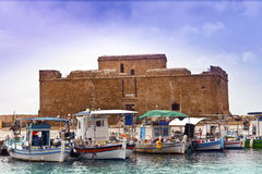 Historic castle in Paphos, Cyprus. Stock Photo