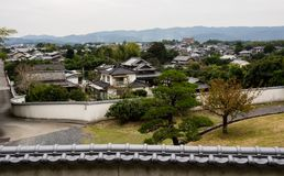 Kitsuki city, panoramic view of residential district. Historic castle town of Kitsuki, Oita prefecture, Japan stock images