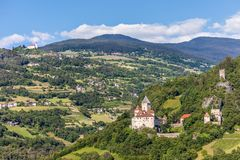 Historic castle Trostburg in the Eisack Valley Royalty Free Stock Photography