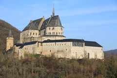 Historic Castle Vianden in Luxembourg. The historic Castle Vianden in Luxembourg Stock Photo