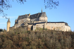 Historic Castle Vianden in Luxembourg. The historic Castle Vianden in Luxembourg Stock Images