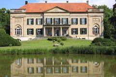 Historic Castle von Korff en Westfalia, Alemania Foto de archivo