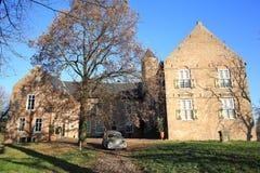 The historic Castle Waardenburg in the Province Gelderland, The Netherlands Stock Photography