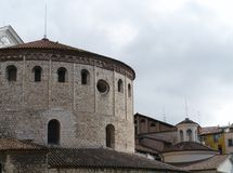 The historic cathedral of Brescia in Italy Royalty Free Stock Image