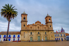 Historic Cathedral of Diocesana de Zipaquira Stock Image
