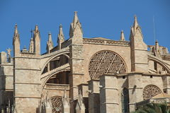 Cathedral in Palma de Majorca. Historic Cathedral in Palma de Majorca Royalty Free Stock Photo