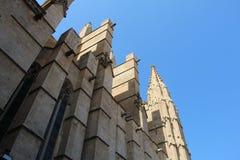 Cathedral in Palma de Majorca. Historic Cathedral in Palma de Majorca Royalty Free Stock Photos
