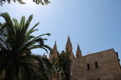 Cathedral in Palma de Majorca. Historic Cathedral in Palma de Majorca Royalty Free Stock Image