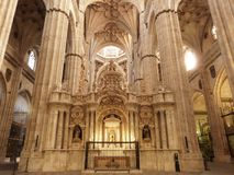 The historic Cathedral of Salamanca royalty free stock image