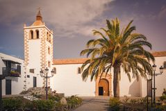 Historic cathedral of Santa Maria of Betancuria on Fuerteventura Islan, Canary Islands, Spain royalty free stock photos