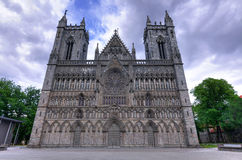 Historic cathedral in Trondheim Royalty Free Stock Images