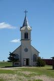 Historic Catholic Church. A historic white Catholic church stock photos