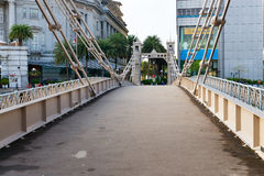 Historic Cavenagh Bridge, spanning the Singapore River Royalty Free Stock Image