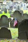 Historic cemetery. Historic landmark cemetery Granary Burying Ground, founded in 1660, in  Boston, Massachusetts Stock Images