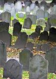 Historic cemetery. Historic landmark cemetery Granary Burying Ground, founded in 1660, in  Boston, Massachusetts Royalty Free Stock Photography