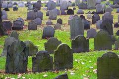 Historic cemetery. Historic landmark cemetery Granary Burying Ground, founded in 1660, in  Boston, Massachusetts Royalty Free Stock Photos