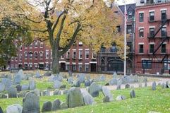 Historic Cemetery in Boston Stock Image