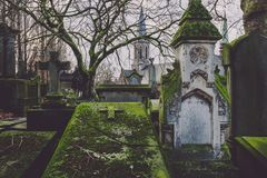 Historic Cemetery and Chapel in Ghent, Belgium stock photos