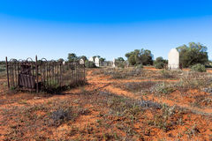 Historic cemetery in outback Australia. Royalty Free Stock Images