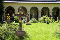 Historic cemetery in Salzburg Stock Photography