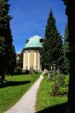 Historic cemetery in Salzburg Royalty Free Stock Photo