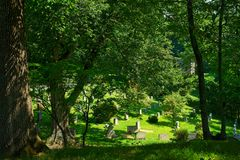 Historic cemetery in Sleepy Hollow royalty free stock photography