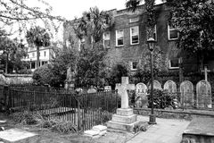 Historic Cemetery at St. Michael's Church, Charleston, SC. Stock Photos
