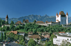 Historic center. Of the town of Thun, Switzerland stock images