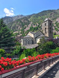 Historic center of Andorra La Vella Stock Photography