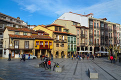 Historic center of Aviles Stock Image