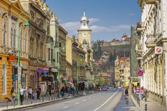 Historic center of Brasov, Romania Stock Photography