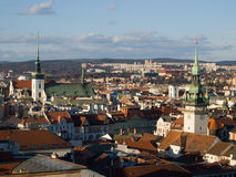 Historic center of Brno, Czech republic royalty free stock images