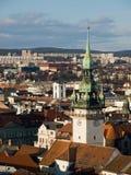Historic center of Brno, Czech republic stock images