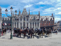 Historic Center of Brugge. Stock Image