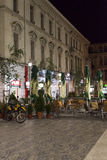Historic center of Bucharest, Romania at night Royalty Free Stock Photography
