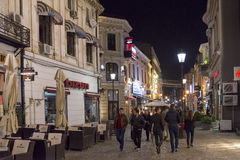 Historic center of Bucharest, Romania at night Stock Images