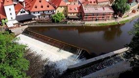 The historic center of Cesky Krumlov stock video