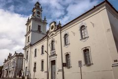 Historic center of the city of Joao Pessoa, northeastern Brazil. Tourist point, ancient city royalty free stock photos