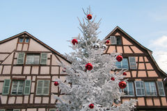Historic center of Colmar in Alsace at christmas time. France Royalty Free Stock Photos